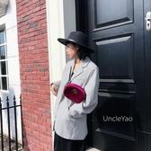 紳士帽 UncleYao英式幽默~神秘黑色皮帶扣毛呢大檐爵士帽平檐禮帽女秋冬 薇薇