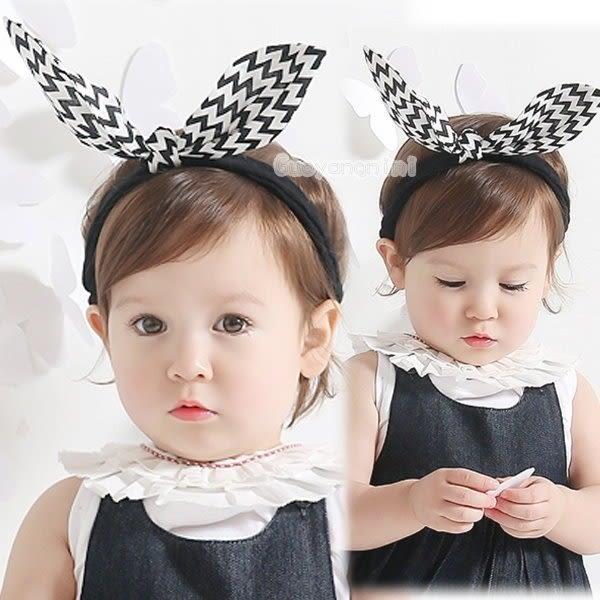 髮帶 韓國款立體大兔耳 寶寶 嬰兒 髮帶  頭帶 送禮 搭配禮服 婚禮 拍照【 P3915】