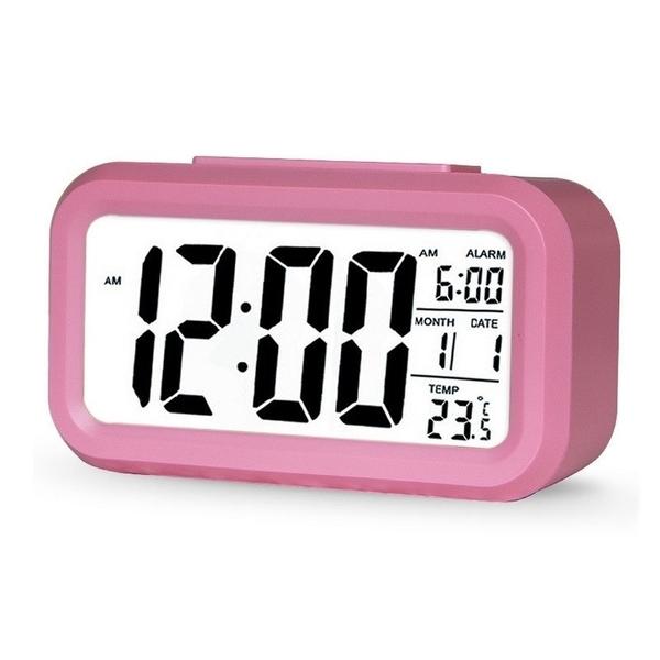 升級版 夜光 溫度 智慧型 靜音 時鐘 貪睡 電子鐘 光感 鬧鐘 超大字幕 聰明鐘 時尚 LED