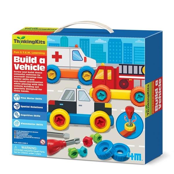 【4M】學齡前啟蒙系列-汽車大亨 Build A Vehicle 00-04694