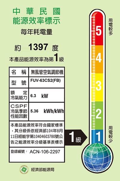↙0利率↗Bd冰點空調*約10-11坪 變頻一對一分離式冷氣FV-63CS2(B)/FIV-63CS2/FUV-63CS2【南霸天電器百貨】