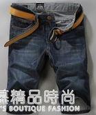 牛仔短褲男夏季薄款直筒寬鬆青少年休閒5五分褲中褲男潮流