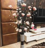擺件模擬花藝客廳落地假花葉脈幹花花束插花家居室內裝飾品套裝擺設件 小明同學