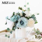 玫瑰仿真花插花套裝北歐客廳餐桌裝飾花藝絹花假花盆栽擺件 【PINKQ】