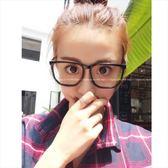 現貨-韓版眼鏡框女潮男平光鏡黑框復古鏡框可配近視大框眼鏡架17