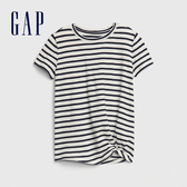 Gap 女童 舒適條紋圓領短袖T恤 568612-海軍藍條紋
