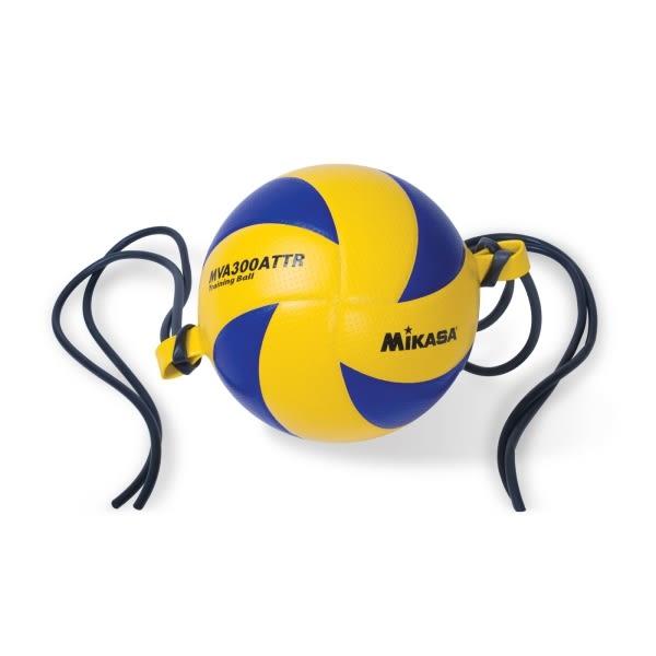 【MIKASA】訓練彩皮排球-橫吊- 五號球 藍橘