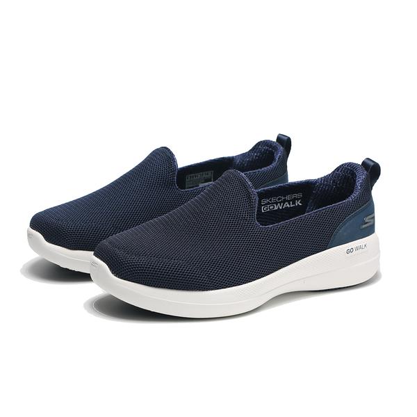 SKECHERS 休閒鞋 GO WALK STABILITY 深藍 寬楦 固特異底 懶人鞋 女 (布魯克林) 124600WNVY