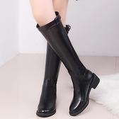 長靴女過膝靴騎士靴2021新款冬季高筒靴加絨皮靴中筒馬靴長筒靴子 8號店