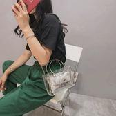 小包包女2018新款夏天果凍包潮超火透明迷你鏈條chic仙女斜跨包