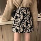 小個子氣質短裙春季裙子女2021年新款高腰顯瘦a字半身裙包臀半裙 韓國時尚週
