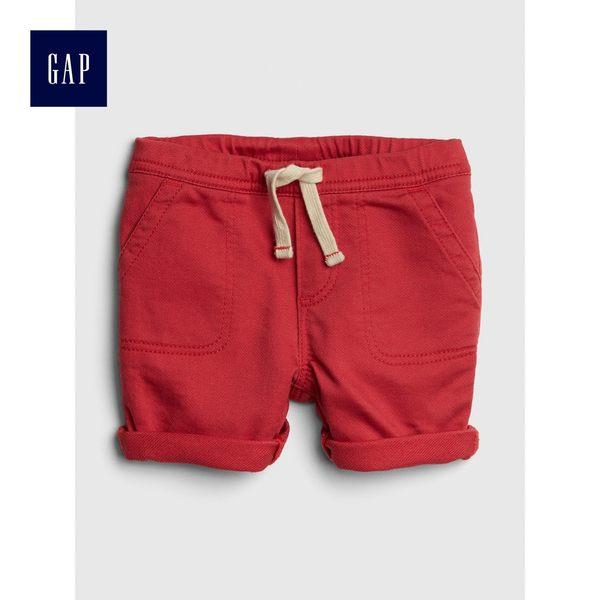 Gap男嬰兒 休閒舒適鬆緊腰牛仔短褲 418471-桃紅