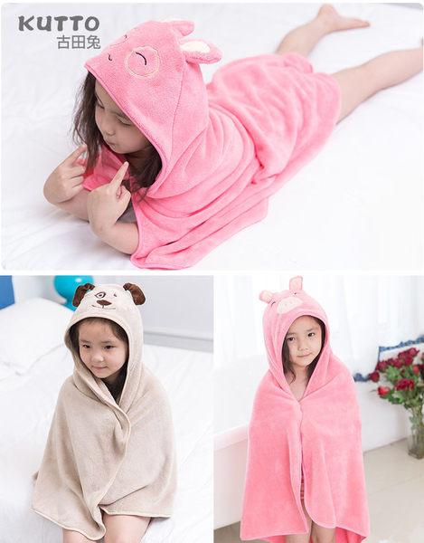 『蕾漫家』-現貨-珊瑚絨兒童帶帽浴巾 兒童披風斗篷 兒童浴巾 動物造型斗篷 吸水 柔軟 多款可選