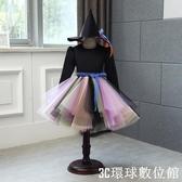 萬聖節服裝 萬聖節兒童服裝女童女巫巫婆斗篷洋裝黑色惡魔化妝舞會公主裙子 『3C環球數位館』