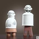 北歐現代ins創意抽像人物擺件裝飾品小擺設--兩個款式