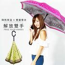 雙龍牌。HANA色膠弧形雙層反向傘。全球唯一不透光隔熱降溫反向傘【JoAnne就愛你】A0809