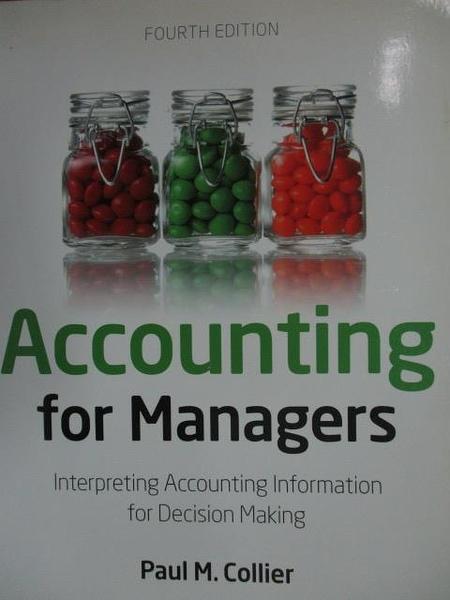 【書寶二手書T8/大學商學_YCN】Accounting for Managers_2012年_5/e_Paul