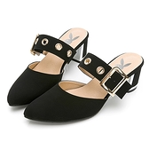 PLAYBOY 玩美小時光 氣質高冷韓系穆勒鞋-黑(YD7315)