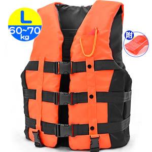 雙跨帶螢光浮力衣L(附口哨子)加厚成人浮潛衣.專業浮力背心.救生衣游泳衣漂流衣泳裝浮板推薦
