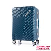 AT美國旅行者 28吋Esquino 鋁合金細框剎車雙輪行李箱(藍)