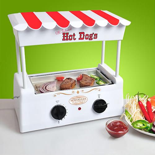 烤腸機 美國Nostalgia烤香腸機家用烤腸機烤熱狗機烤火腿腸鐵板燒 晶彩生活