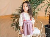 女童吊帶裙洋裝 童裝女寶寶長袖連身裙韓版女童春秋吊帶貓咪 寶貝計畫