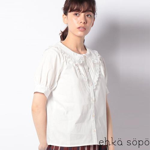 ❖ Autumn ❖ 蕾絲拼接翻領泡泡袖襯衫上衣 (提醒➯SM2僅單一尺寸) - Sm2