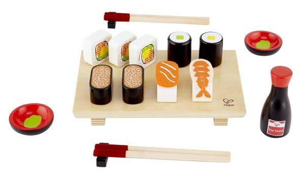 【免運費】《 德國 HAPE 愛傑卡 》下午茶系列 - 日式壽司  ╭★ JOYBUS玩具百貨