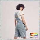 Levis Pride限量平權系列 男女同款 牛仔吊帶短褲 / 復古寬管版型 / 彩虹布標、五金、皮標