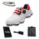 PGM 高爾夫男士球鞋 旋轉鞋帶球鞋 防水防滑鞋子 GSH094WRED
