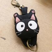 Kiro貓 小黑貓 立體造型 鑰匙圈/吊飾/掛飾【221916】