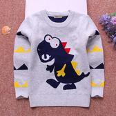 男童毛衣兒童打底針織衫2018秋冬款寶寶小孩卡通圓領套頭上衣加絨