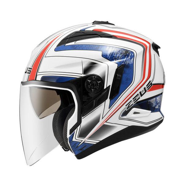 ZEUS瑞獅安全帽,ZS-613B,無帽沿版,AJ6/白藍