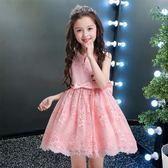 童裝女童公主裙夏新款中大童女孩洋氣裙子韓版蕾絲兒童洋裝 米蘭潮鞋館