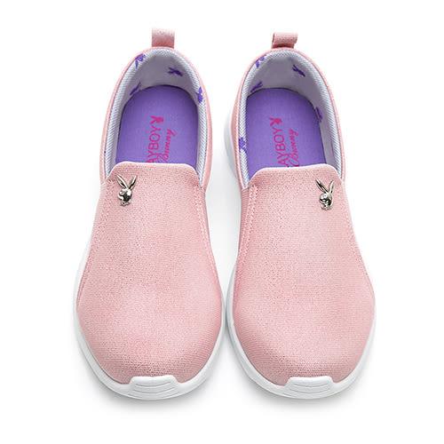 PLAYBOY 魅力風采亮蔥布懶人鞋-粉