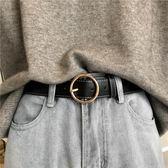 復古圓扣皮帶女寬簡約百搭韓版休閒針扣腰帶學生裝飾牛仔褲帶   傑克型男館