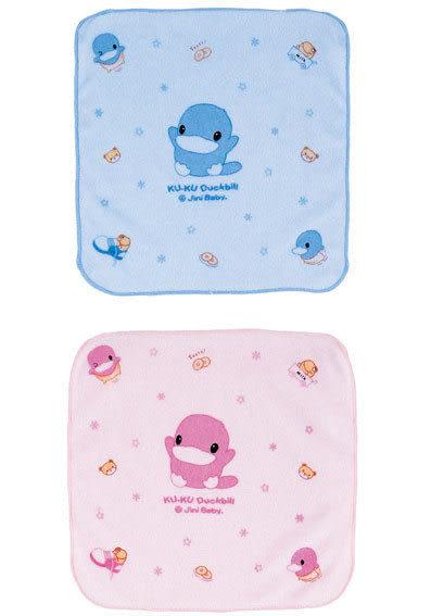 【奇買親子購物網】酷咕鴨KU.KU. 小方巾(藍色/粉色)