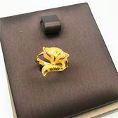 沙金飾品歐幣可愛金狐貍開口女士戒指久不掉色 仿黃K金鍍金戒指「韓風物語」
