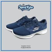 SKECHERS 慢跑鞋 Go Walk 4 藍白 網布 運動  女 14146NVW【Speedkobe】