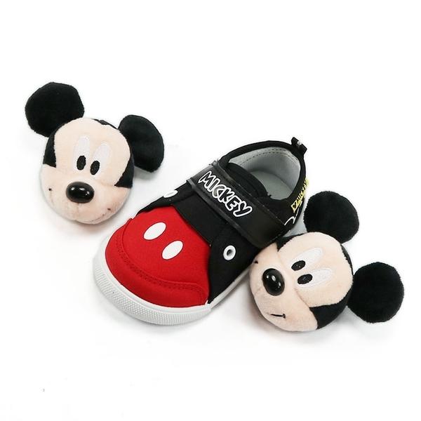 正版迪士尼Disney超可愛立體米奇大頭玩偶兩穿兒童布鞋.休閒鞋.童鞋.黑14-19號~EMMA商城