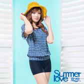 【夏之戀SUMMERLOVE】大女印花比基尼三件式泳衣-S17713