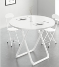 折叠桌 可折疊小圓桌餐桌家用小戶型簡約圓形桌子洽談簡易桌椅組合吃飯桌快速出貨