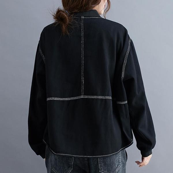 外套 大碼女裝春秋棒球服外套女新款胖mm寬松百搭顯瘦休閒夾克上衣