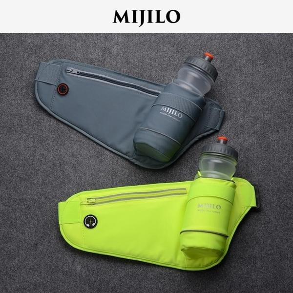 運動腰包米基洛馬拉鬆跑步裝備 運動腰包男女多功能水壺包6寸手機實用耐磨 檸檬衣舎