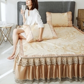 涼席 涼席冰絲席米床席子夏季三件套夏天1.8m床裙可折疊水洗床單 星期八
