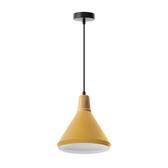 (組)特力屋萊特木質吊燈黃鐵燈罩