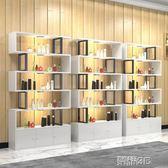 展示櫃 產品展示櫃 超市貨架貨櫃鞋店展架化妝品美容陳列櫃置物架帶門  榮耀3c