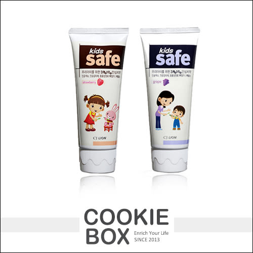 韓國 CJ Lion 兒童 牙膏 草莓 葡萄 90g 牙齒 水果香 無色素 刷牙 預防 健康 *餅乾盒子*