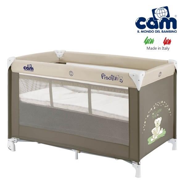 cam義大利嬰幼兒雙層遊戲床(棕) I-L118-100