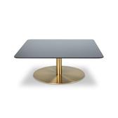 Tom Dixon Flash Table Square 80x80xH30cm 閃耀系列 黃銅 正方形茶几 - 鋼化鏡面玻璃桌面